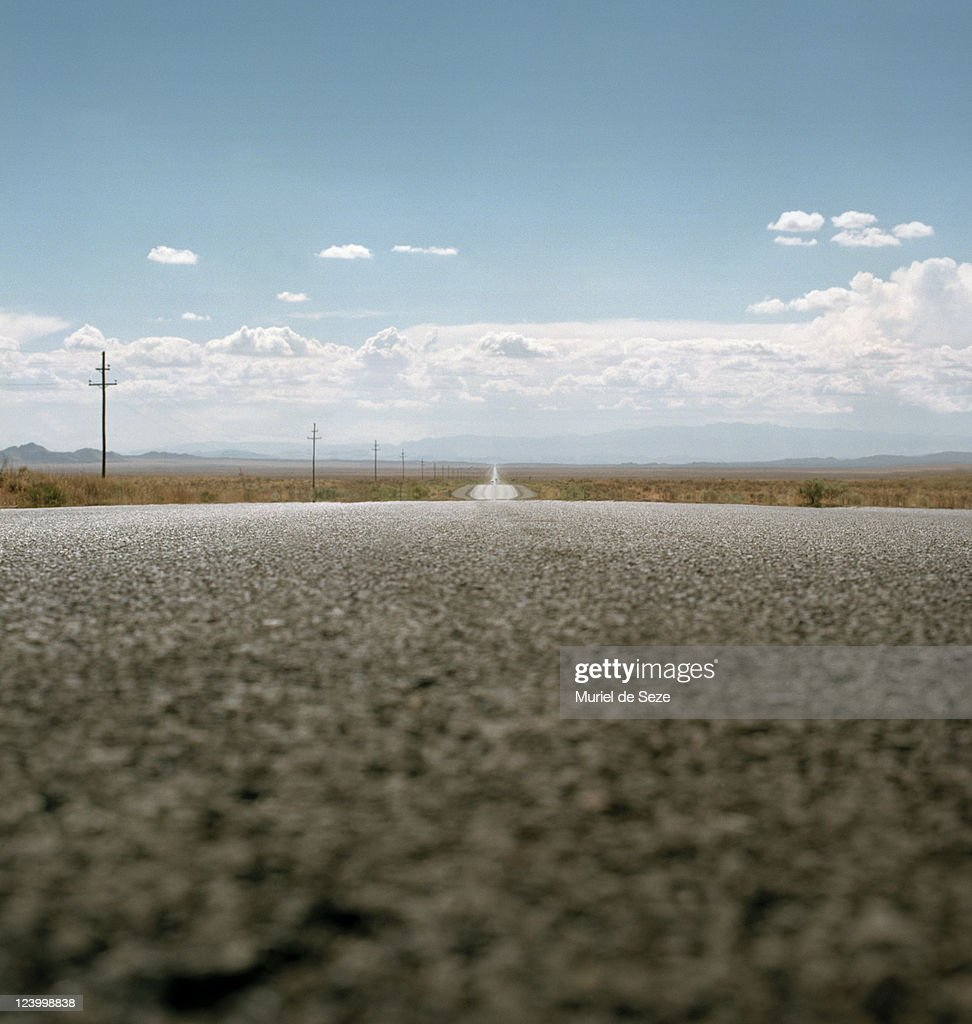 road in desert : Stock Photo