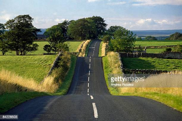Road in English coutryside