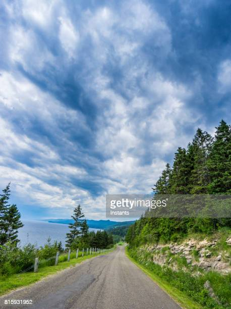 Road in Forillon, one of Canada's 42 National Parks and Park Reserves, heading towards Cap-Bon-Ami.