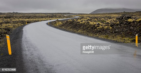 Road en Islandia  : Foto de stock