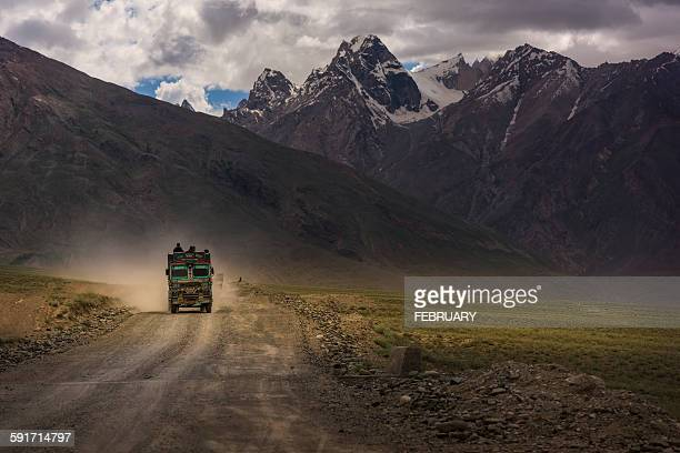 Road in Padum,Zanskar.