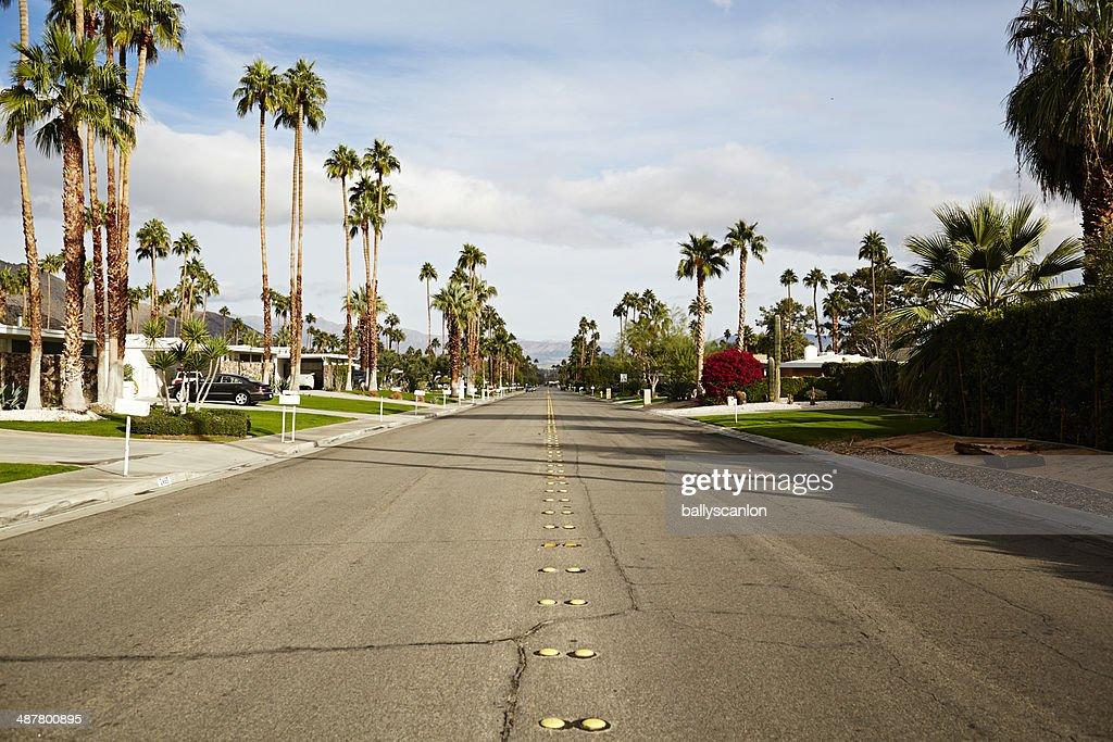 Road in suburbia