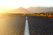 An atmospheric picture of the Icelandic ringroad - sun-drenched and colour-intensive.