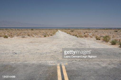 Road in the Mojave Desert, California. : Stock Photo