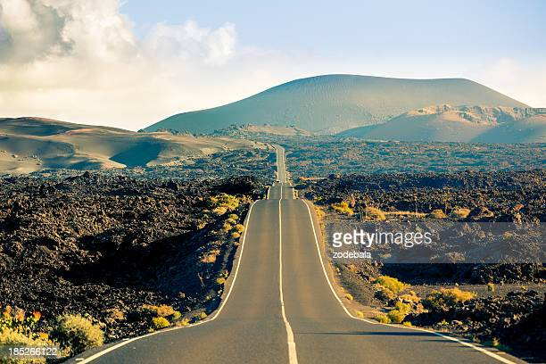 Road in Timanfaya National Park, Canary islands