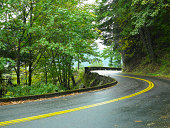 Road in wooded setting