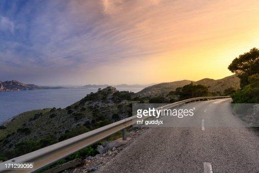 道路を太陽のマヨルカ