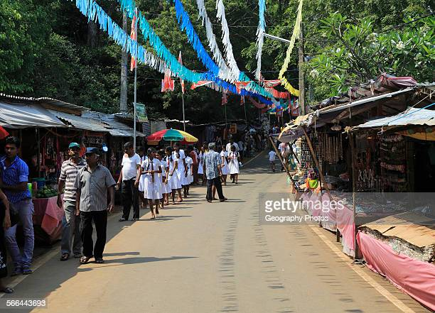 Road leading to Koneswaram Kovil Hindu temple Trincomalee Sri Lanka Asia
