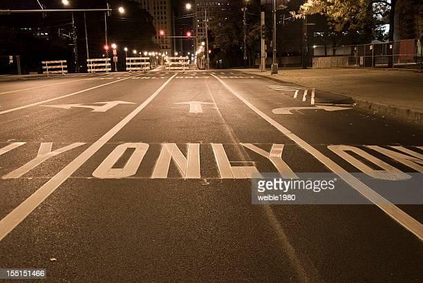 USA Straßenmarkierung, Pfeil Zeichen