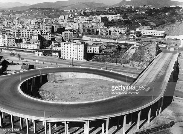A road near the Port of Genoa Genoa 1960s