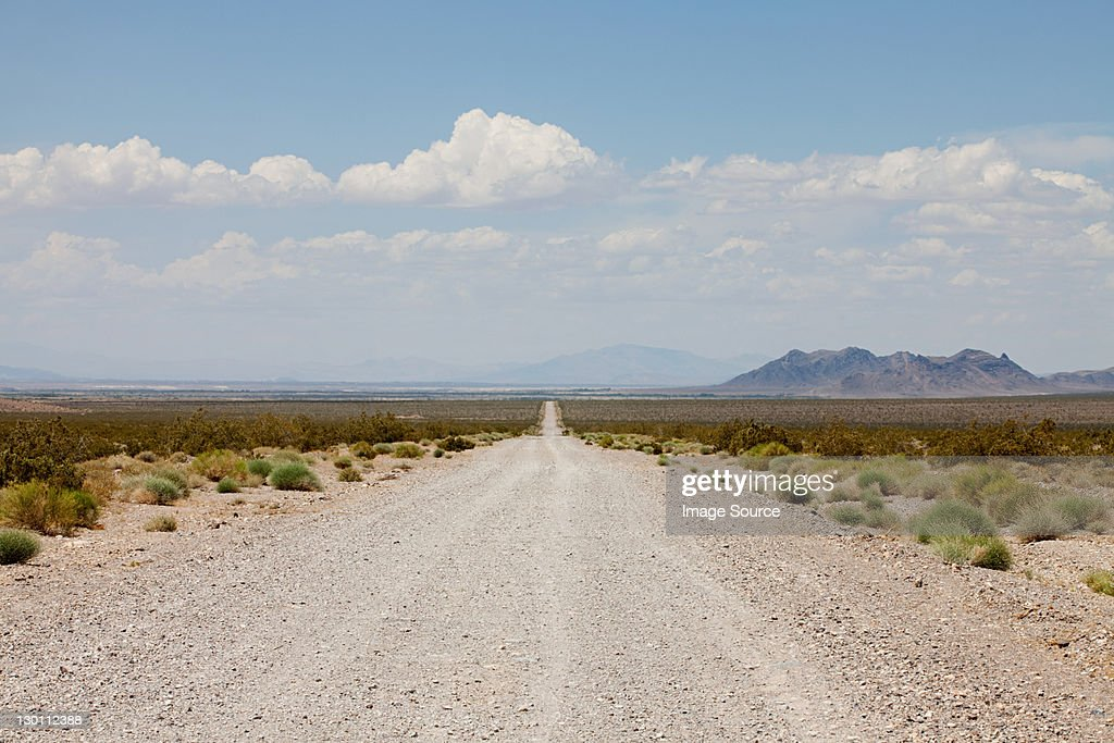 Road off Nevada State Highway 160, USA : Stock Photo