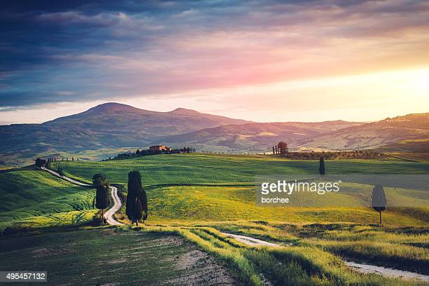 Road over Tuscany hills