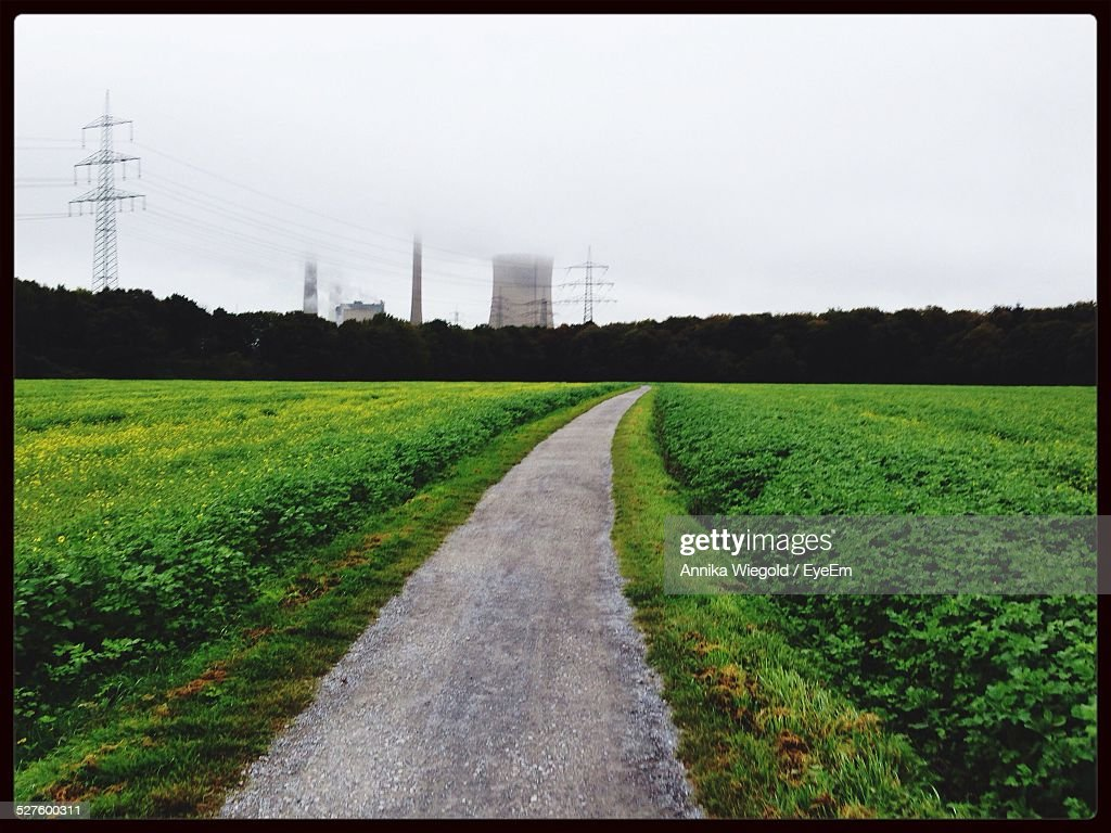 Road Passing Through A Field