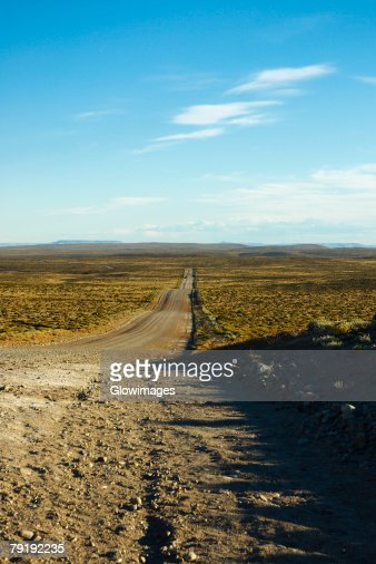 Road passing through a landscape, National Route 40, Patagonia, Argentina : Foto de stock