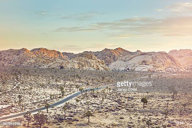 road passing through the desert