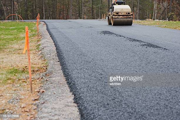 Road Paving with Asphalt