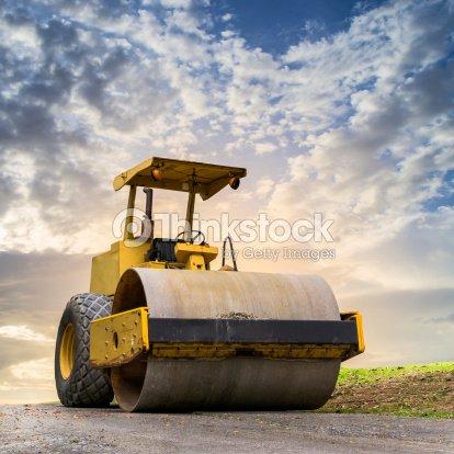 Strada rullo in cantiere di costruzione foto stock for Cantiere di costruzione