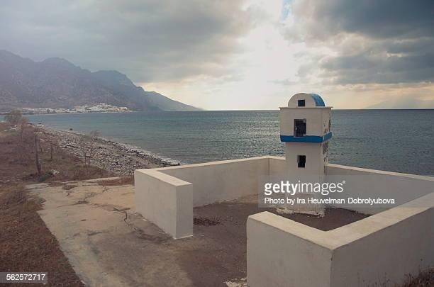 Road side chapel in Greece before the rain