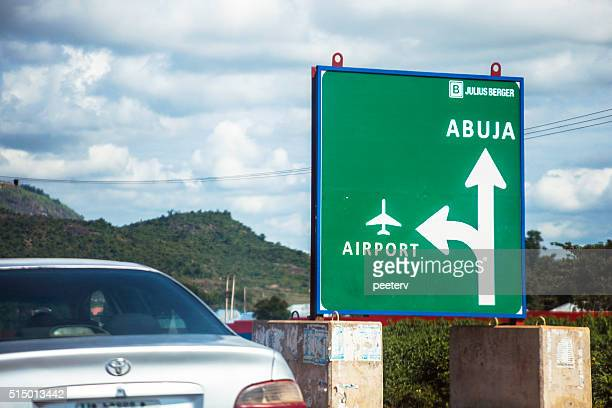 Road sign - Abuja, Nigeria.