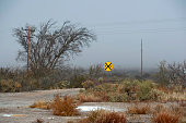 Road sign at Toyah Texas State USA