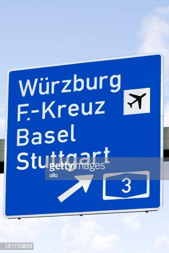Road sign - Autobahn, german cities