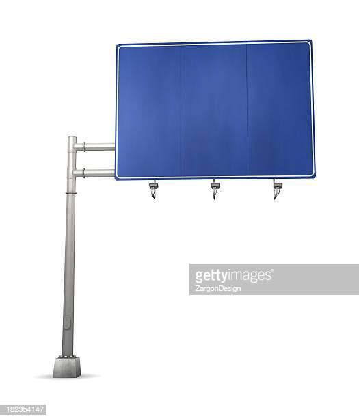 Signe de la route bleue