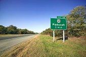 Road sign for Paducah