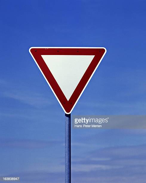 road sign, give way