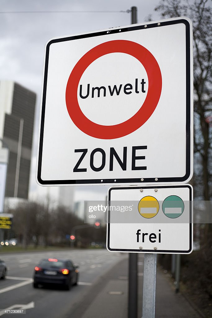 Road sign Green zone - Umweltzone