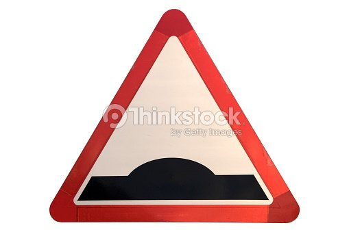 Road sign 'Hump' isolated on white. : Stock Photo