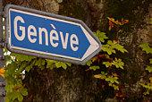 Road sign in Switzerland