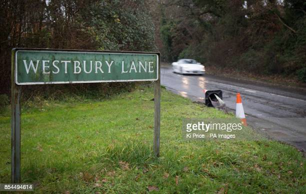 A road sign near the scene in Purley on Thames West Berkshire where two cyclists have died after they were struck by a car yesterday following a...