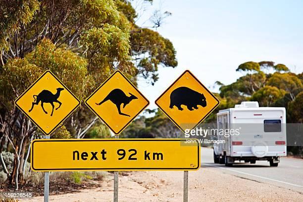 Road sign outback Australia