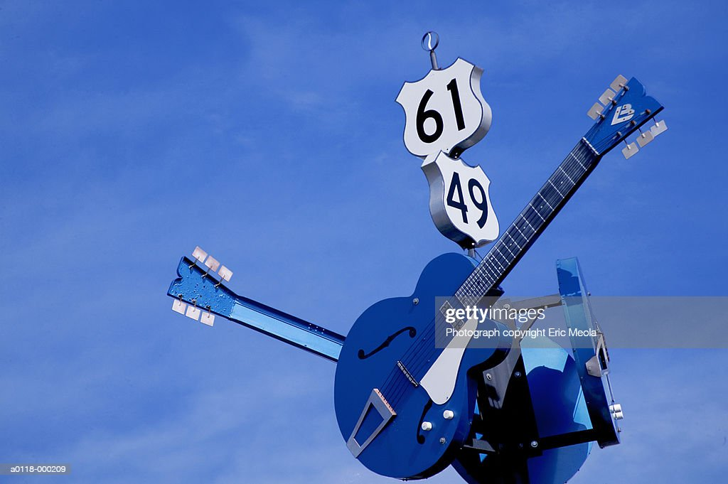 Road Sign with Guitars