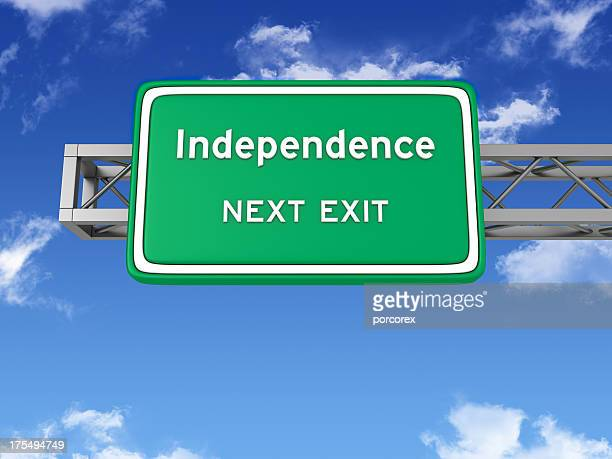 Road Sign with INDEPENDENCE and Sky