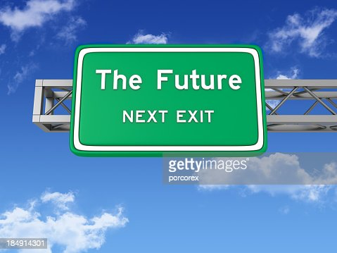 Road Sign with THE FUTURE and Sky