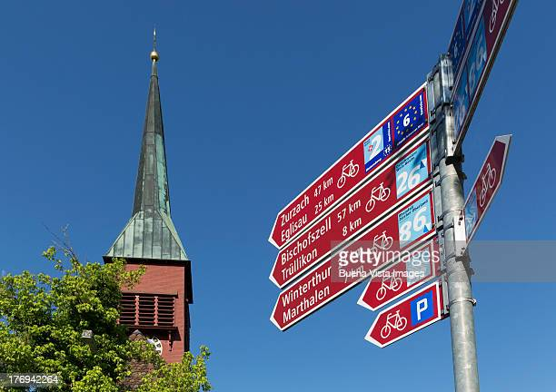 Road signs for bikes in Switzerland