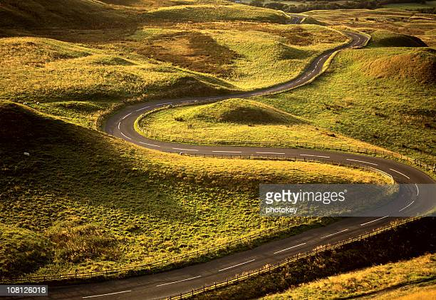 Road Snaking Through Landscape