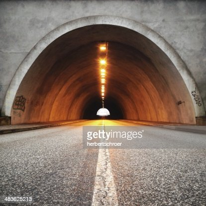 View of road tunnel