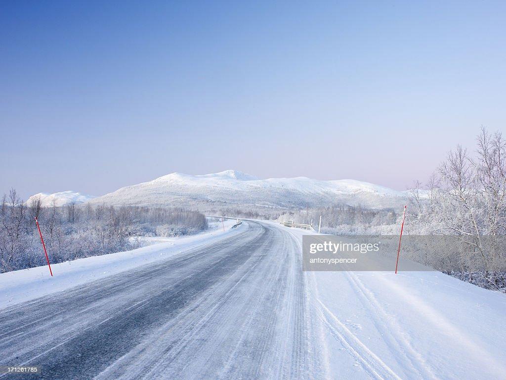 Road through Arctic Tundra