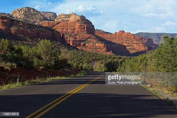 Road through canyons