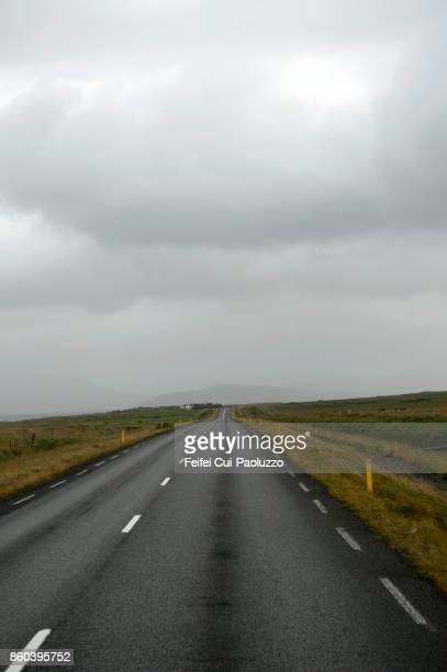 Road to Borgarnes, west of Iceland