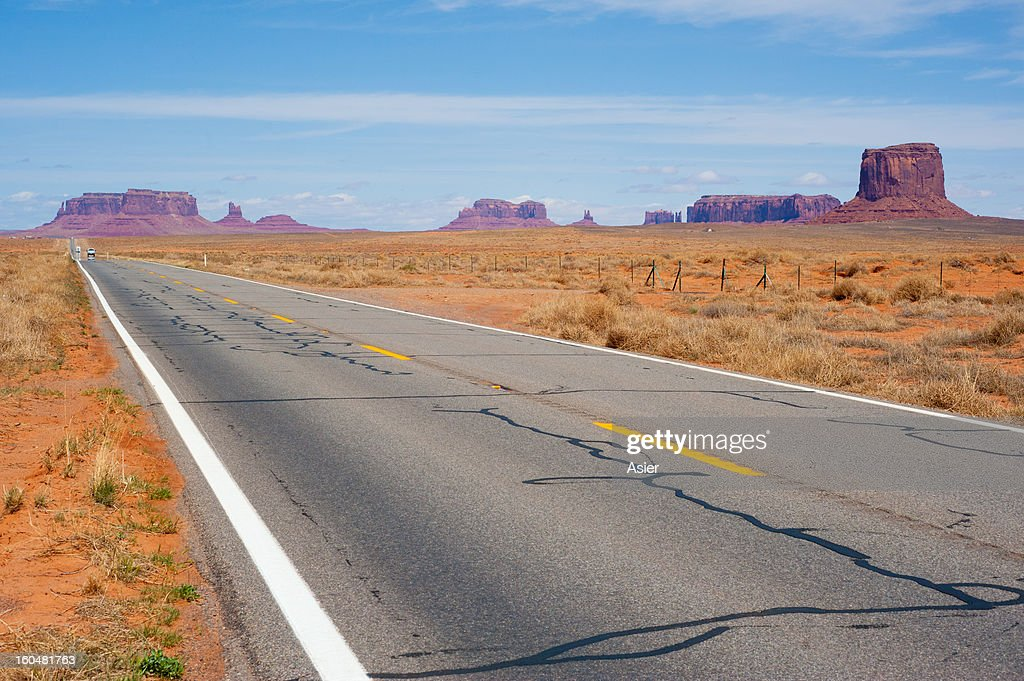 Road to Monument Valley : Stock Photo