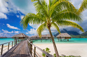 Road to beautiful Bora Bora