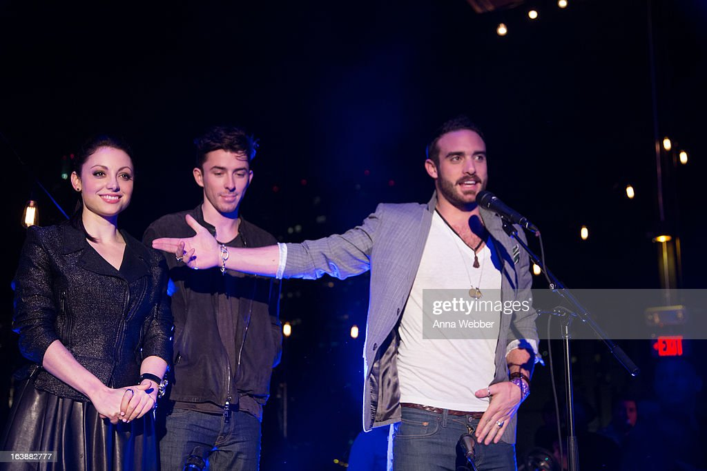 Road To Rogue actors Leah Gibson, Matthew Beard and Joshua Sasse during DIRECTV And AUDIENCE Network's Road To Rogue Party on March 16, 2013 in Austin, Texas.