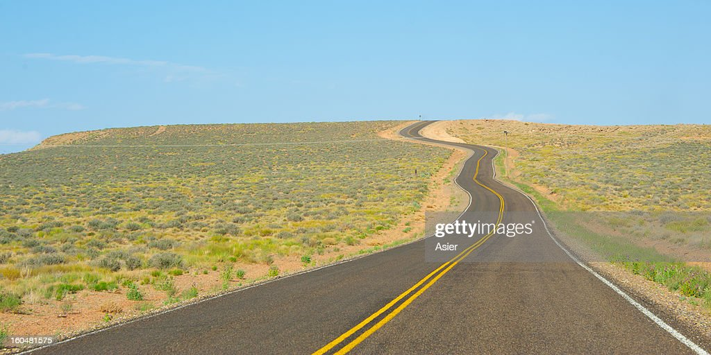 Road to the horizon : Stock Photo