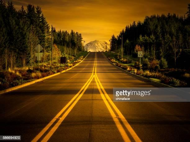 road to the mountain Rainier