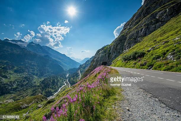Road to the Sustenpass in Switzerland