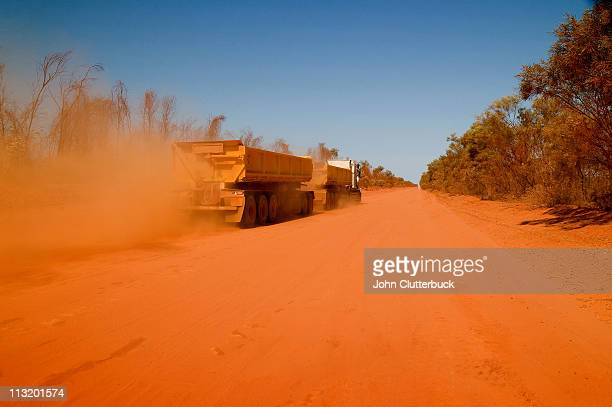 Road Train on Red Dirt