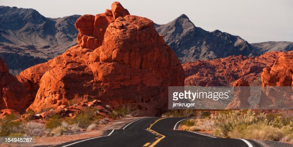 Road Trip through Valley of Fire State Park, Nevada.